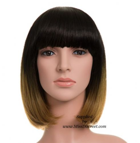 Ladies  Full Head Bob Style Wig in Two Tone Dark and Light Brown